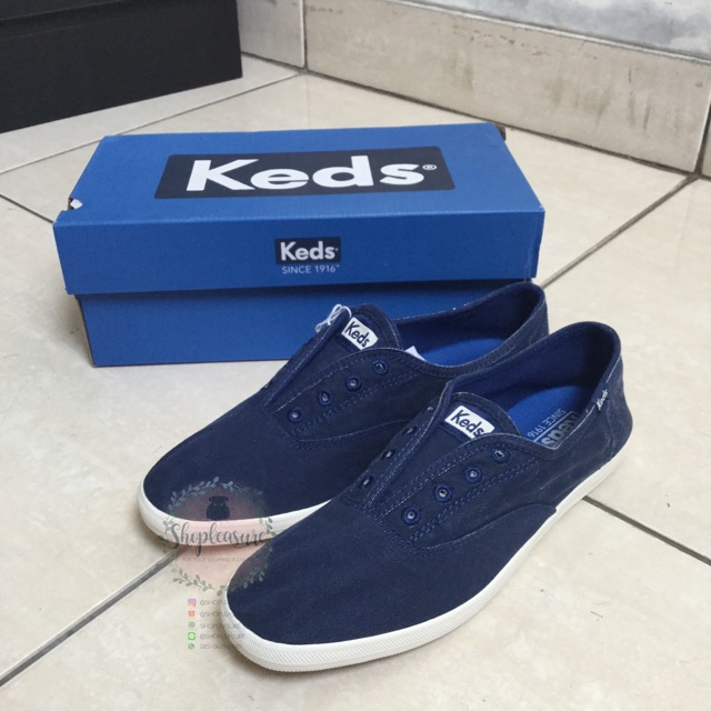 Sepatu keds shoes champion chillax navy slip on original ori asli authentic  size 37  2b1e6ad107