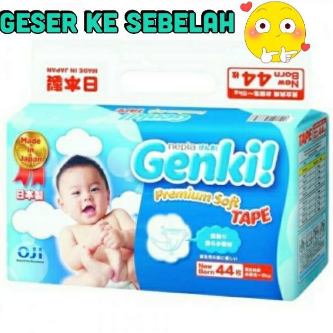harga DISKON!! Nepia Genki Tape NB 44 Newborn New Born NB44 Hemat 40% Shopee.co.id