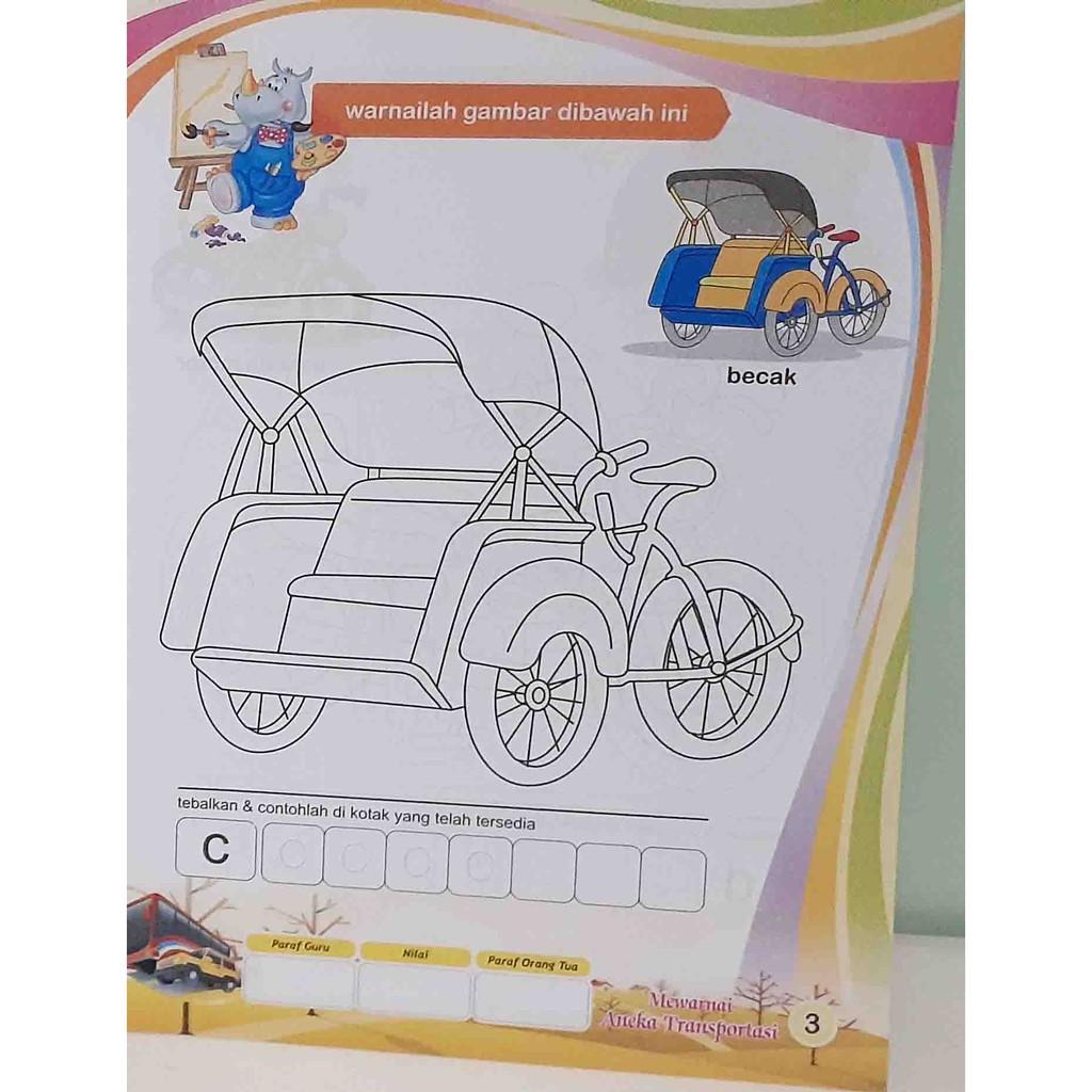 Buku Edukasi Anak PAUD TK Mewarnai 20 5x27 5 HVS
