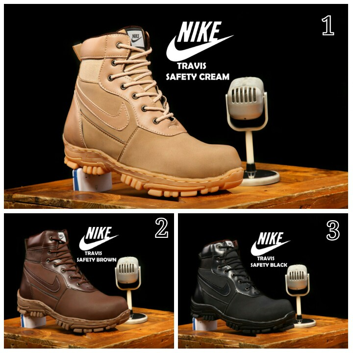Sepatu boots safety nike pria hyperdash original handmade boots gunung  treking hiking ujung besi ori  3c92f4f3ff