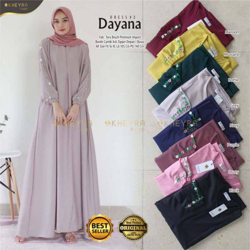 Gamis Wanita Dayana Dress #2 Original Berlabel Kheyra