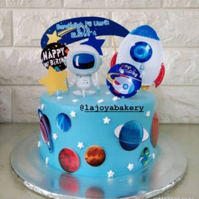 Peachy Outer Space Kue Ulang Tahun Birthday Cake Shopee Indonesia Funny Birthday Cards Online Sheoxdamsfinfo