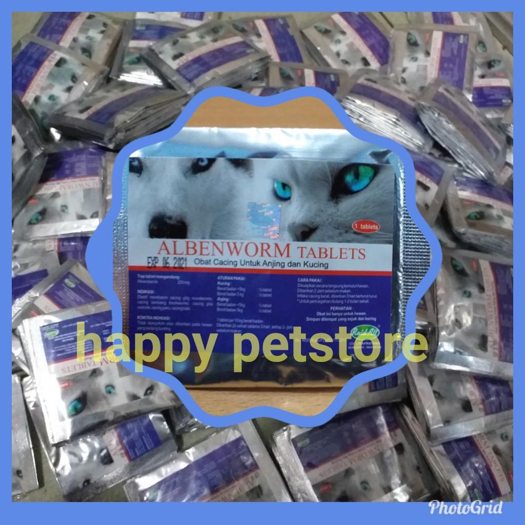 Albenworm Tab Raid All Obat Cacing Untuk Kucing Anjing Alben Worm Tablet Shopee Indonesia