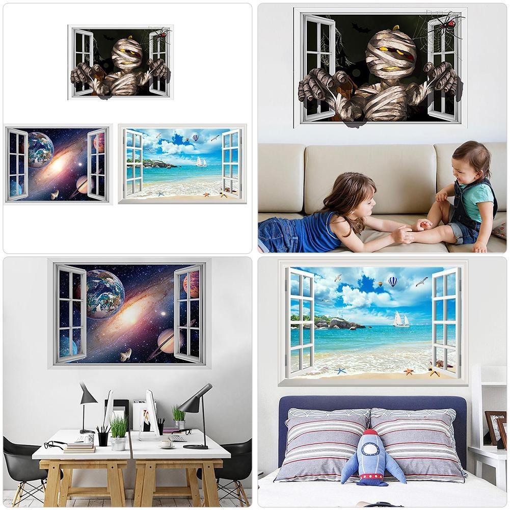 Stiker Dinding Dengan Bahan PVC Tahan Air Dan Gambar Motif Balon 3D Untuk Dekorasi Rumah