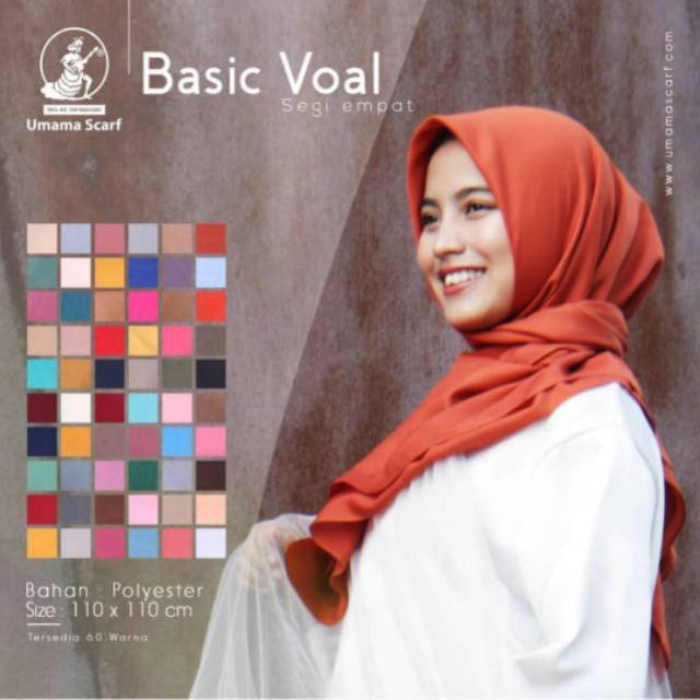 Hijab Bahan Voal Polos 65