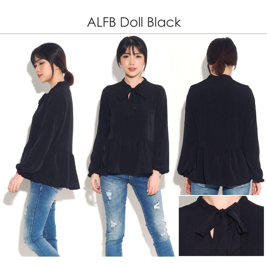 Atasan Wanita Ellena Peplum Blouse Tunik Baju Muslim Murah Shopee Kemeja Blus Indonesia