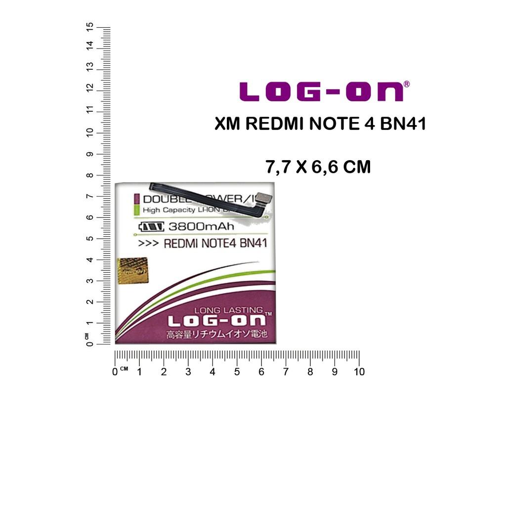 BATERAI LOGON XIAOMI REDMI NOTE 4 BN41