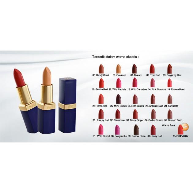 ORIGINAL Inez Color Contour Plus Lipstick Halal Lipstik Warna Lengkap | Shopee Indonesia