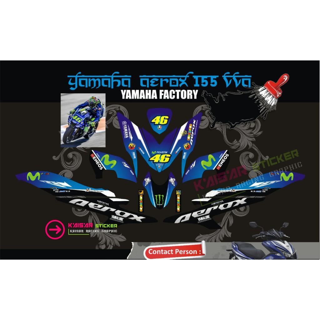 Striping motor yamaha nouvo z batik biru berkualitas shopee indonesia