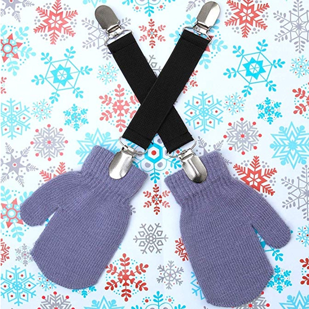 PZLE Adults Kids Glove and Mitten Clips Elastic
