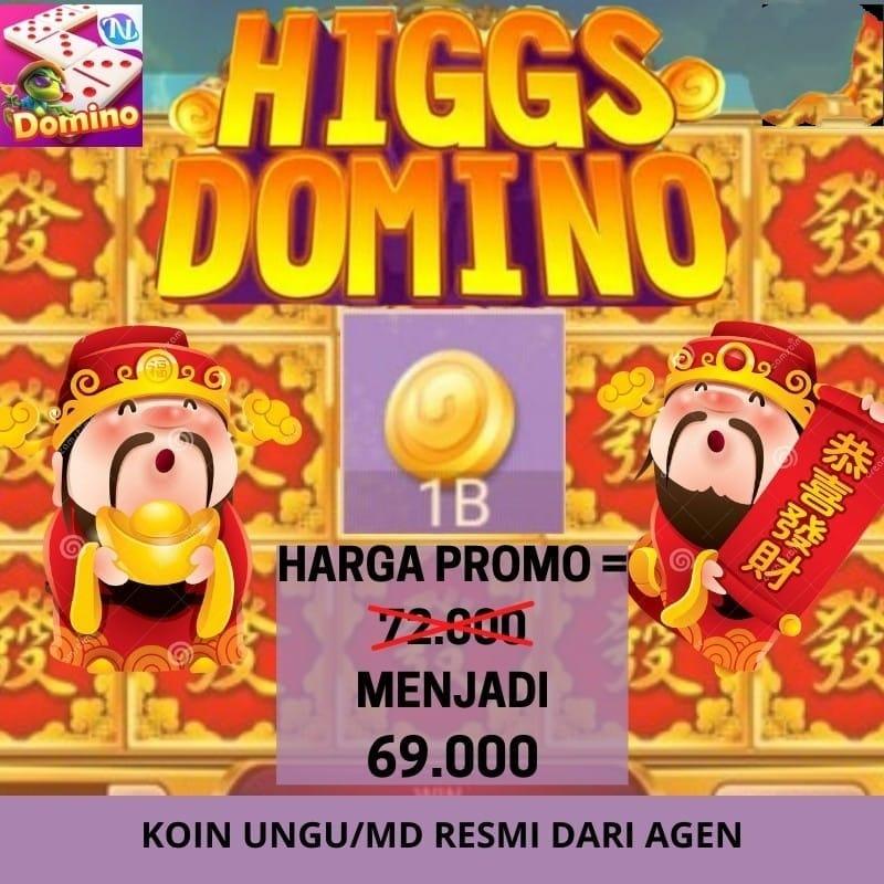 Chip Domino MD / Resmi Higgs Domino Ungu Eceran Koin / Coin / Cips / Cip / Higg / Higs / Island