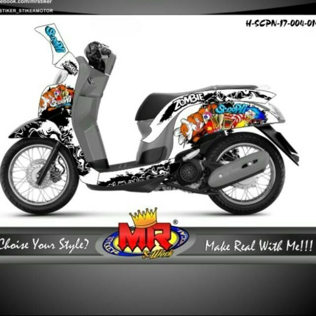 Info Top 20 Stiker Motor Scoopy Keropi