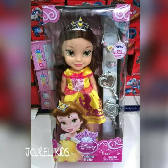 Mainan anak perempuan boneka disney princess belle Cinderella Rapunzel  Jasmine barbie doll  b40e8be43d
