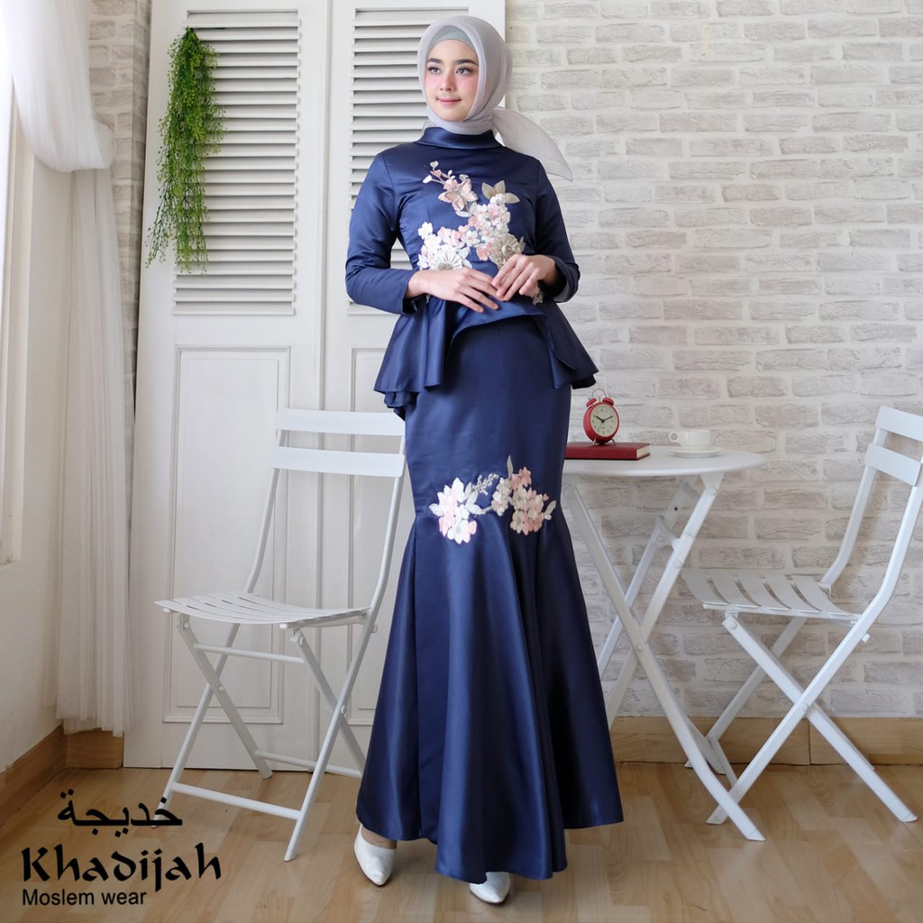 Aurel Mermaid Gaun Pesta Gamis Muslim Baju Duyung Shopee Indonesia