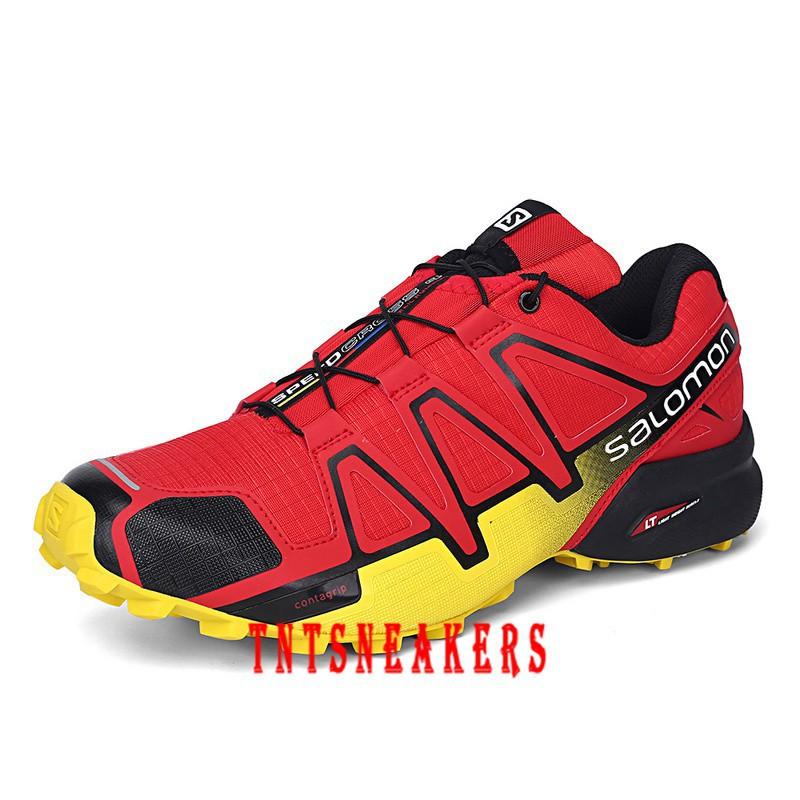 Sepatu Sneakers Olahraga Pria Model Nike salomon 4 Bahan Breathable untuk  Outdoor   Hiking  d1590a8192