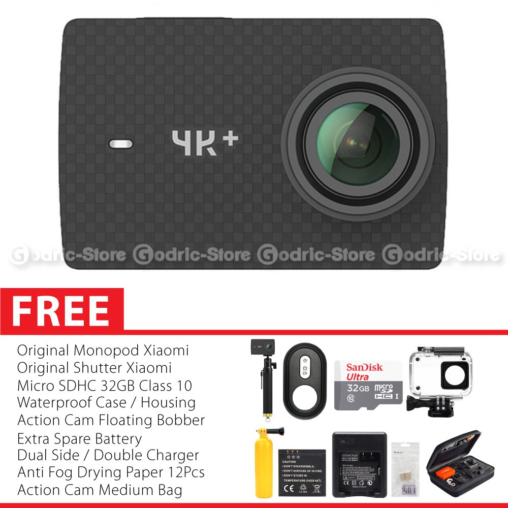 Xiaomi Yi Mark II 2 4K Ultra HD international Action Camera Sports with Waterproof Case Cover Orig | Shopee Indonesia