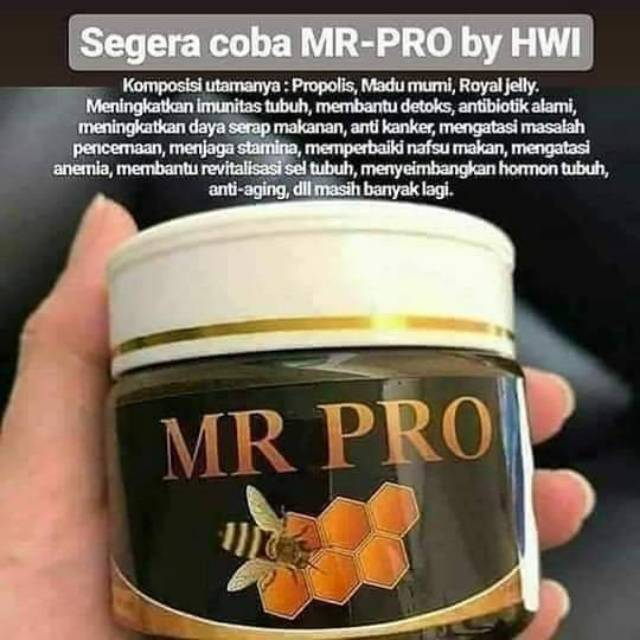 MR PRO HWI Formula Multivitamin Madu Murni Propolis Jelly Suplement Penambah Berat Badan - MMI-67   Shopee Indonesia