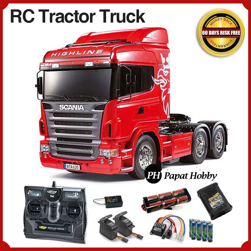Mobil Remot Truk Gandeng Scania Rc Tractor Truck Trailer Mobil Remote Control Truck Papat Hobby Shopee Indonesia
