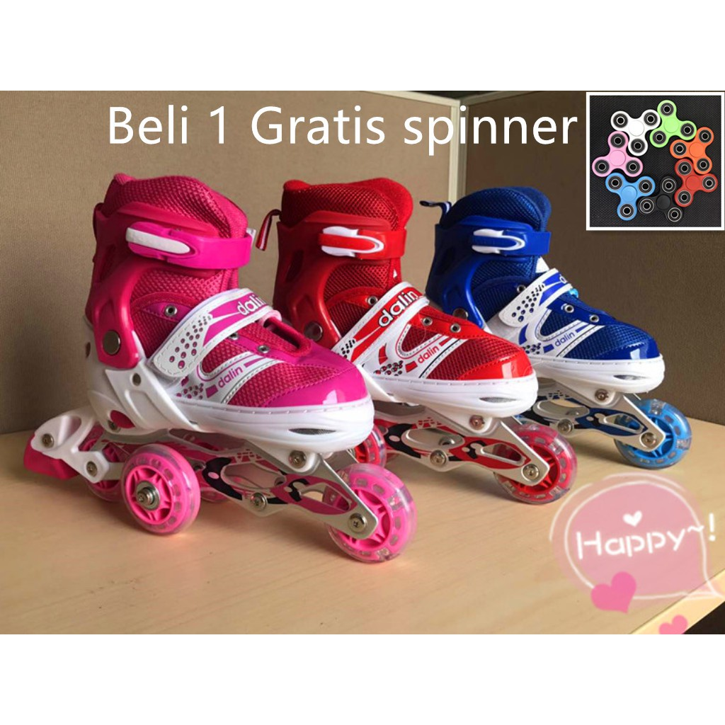 Sepatu Roda Bajaj Ban karet  inline skate PU WHEELS Anak dan Dewasa ... 47f8695f52