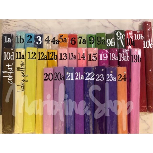 Kertas Krep Impor Kertas 101 Crepe Paper Roll Murah Kertas Krep Tebal Kertas Bunga Crepe 101 Shopee Indonesia