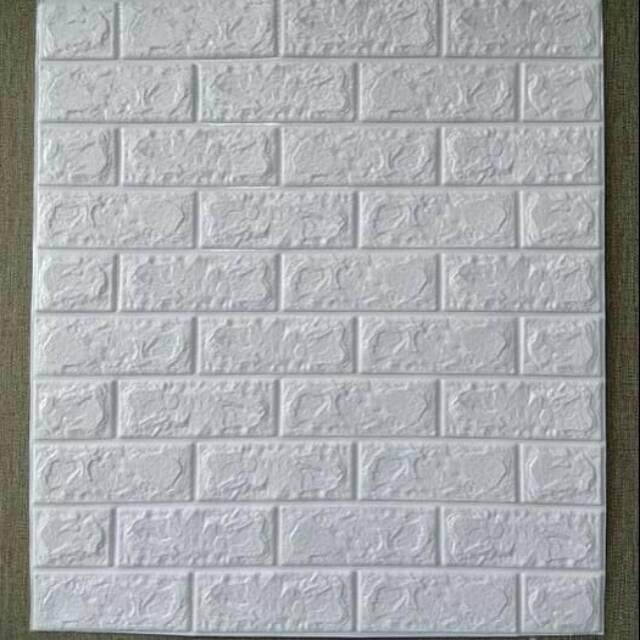 Wallpaper Foam Batu Bata Putih