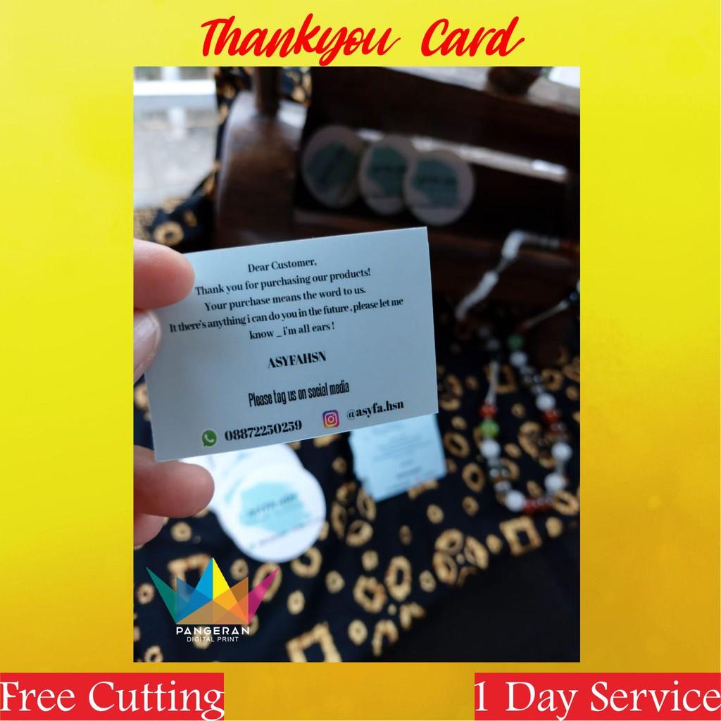 Thankyou Card Kartu Ucapan Terima Kasih Toko On Line Shop Thankyou Online Shop Shopee Indonesia