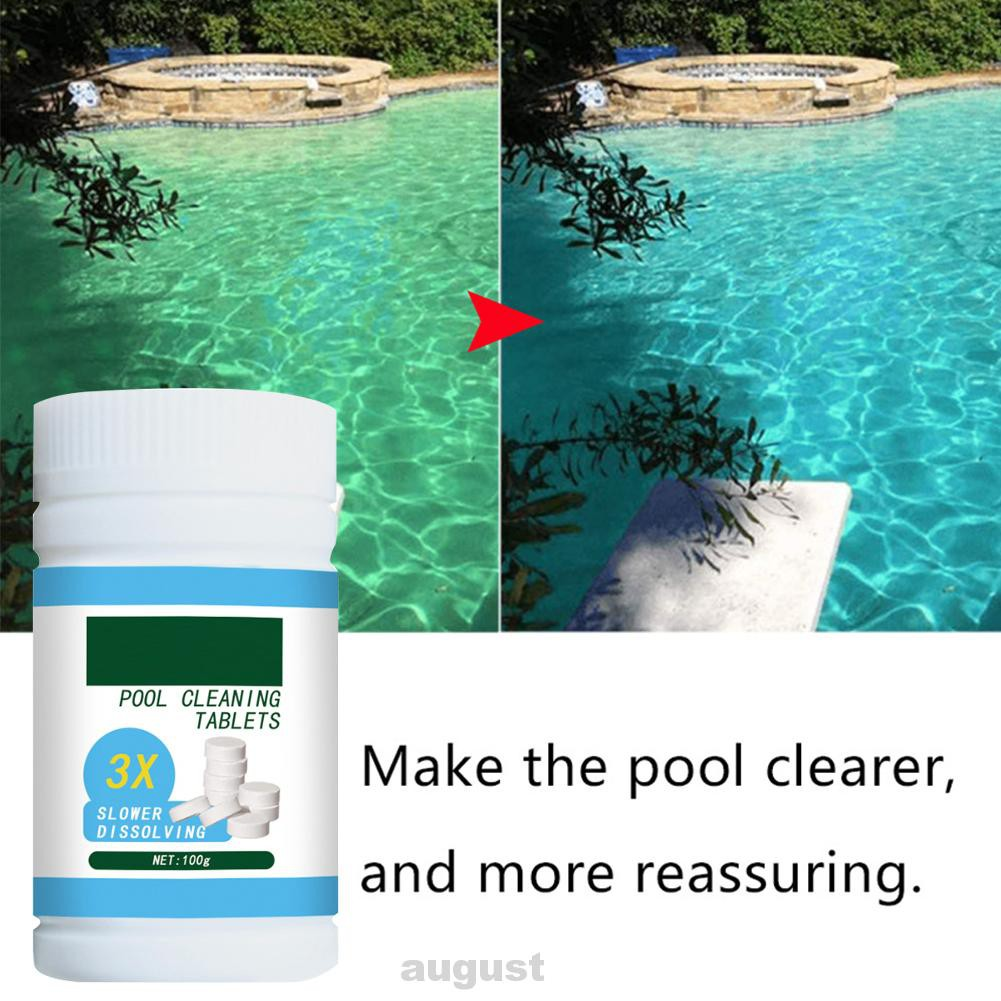 100pcs Home White Portable Effervescent Swimming Pool Cleaning Tablet Shopee Indonesia