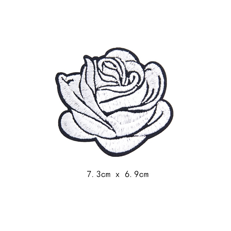 2pcs Patch Bordir Bunga Mawar Merah Untuk Aplikasi Pakaian Dengan Jahit Setrika Shopee Indonesia