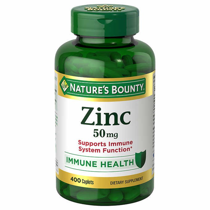 Nature's Bounty Zinc 50mg, 400 Caplets Meningkatkan Kekebalan Tubuh / Immune System. | Shopee Indonesia