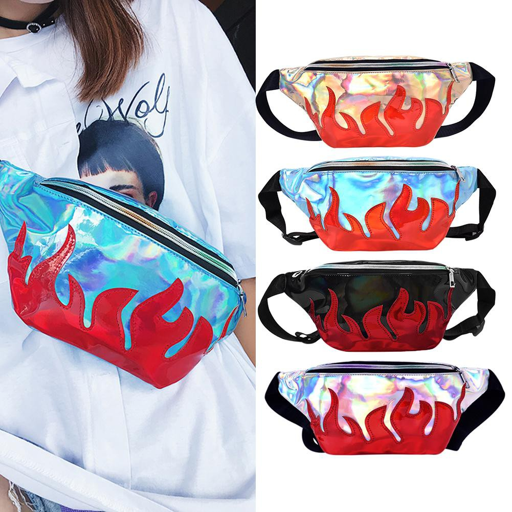Street Women Laser Reflective Chest Belt Waist Handbags Belts For Men Semi Kulit Hitam 829 Ikat Pinggang Bahan Plastik Transparan Warna Polos Untuk Musim Shopee Indonesia
