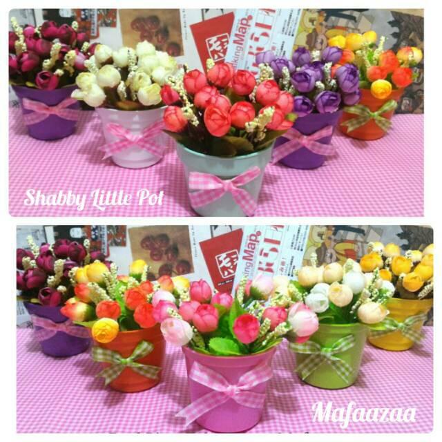 Artificial bunga sakura +pot rotan  2460028ec6