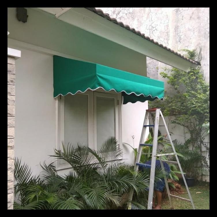 MURAH kain awning/ atap kanopi plus jahit