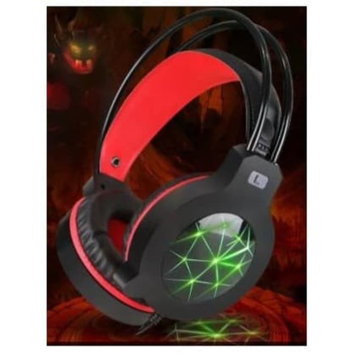 SADES AW30 Wired USB Stereo Gaming Headset Over Ear Headphones with Mic Vibration Volume LED Light | Shopee Indonesia