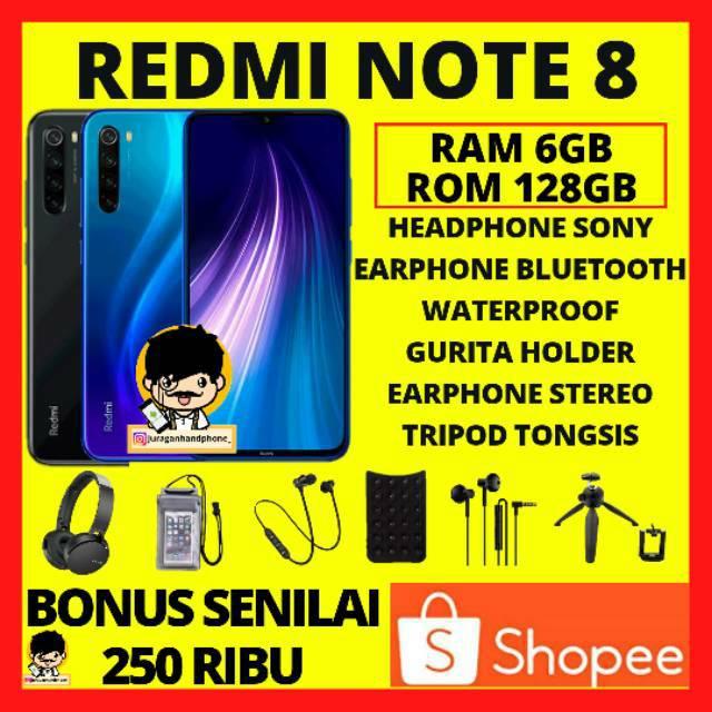 REDMI NOTE 8 RAM 6/128 GARANSI RESMI 1 TAHUN  XIAOMI REDMI NOTE 8 - XIOMI NOTE 8 HP XIOMI MURAH