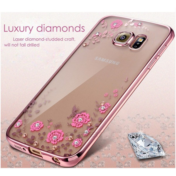 Samsung Galax A51 A71 A6 A8 Plus A8+ A3 A5 A7 A10S A20S AM10 M20 M30 Soft Floral Casing Bling Cover/MM