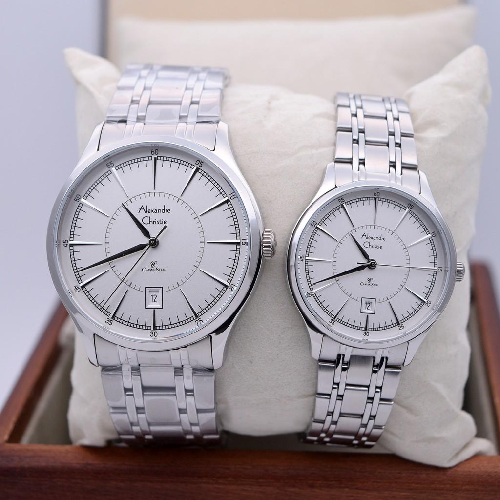 Jam Tangan Couple Alexandre Christie 8567 Silver Kombinasi Original Chritsie 8325 Gold Shopee Indonesia