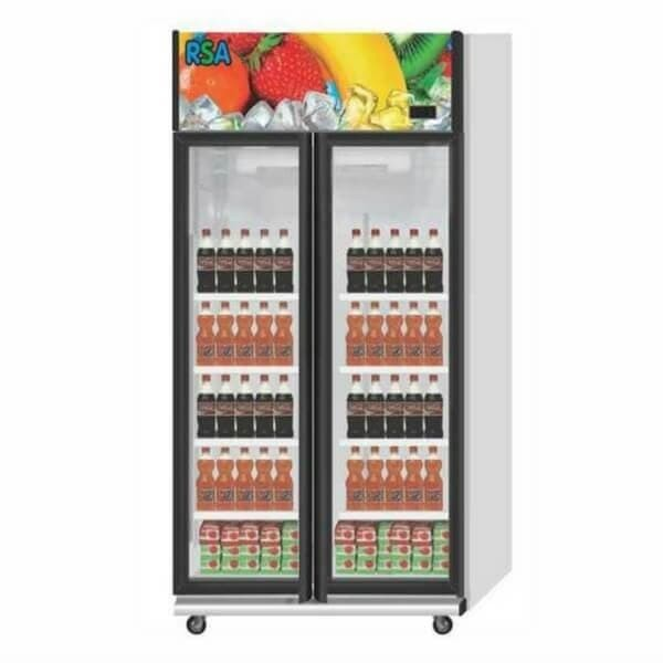 Kulkas Lemari Es Pendingin Display Minuman Showcase Cooler 2 Pintu RSA JADE