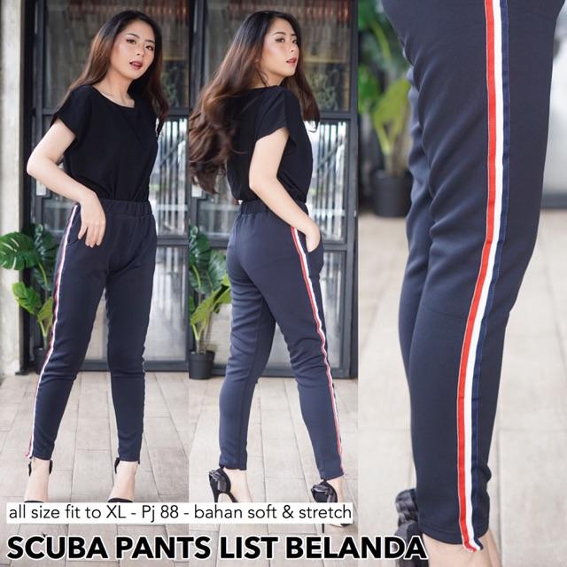 Lc Scuba Pants List Belanda Celana Legging Wanita Murah Kekinian Shopee Indonesia