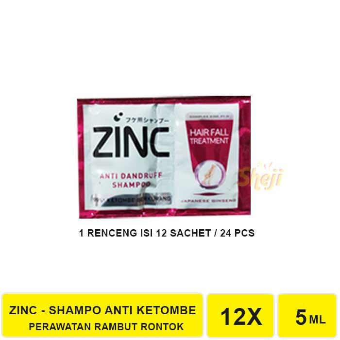 VS. SHAMPO ZINC SACHET 1 RENCENG ISI 12 SACHET / SHAMPO ANTI KETOMBE ZINC-ZINC MERAH