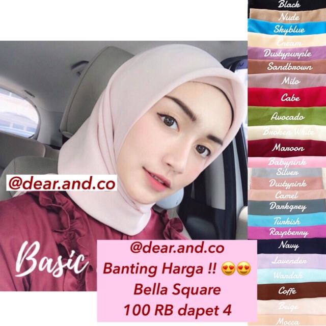 Termurah Hijab Jilbab Bella Square Segiempat Bella Square