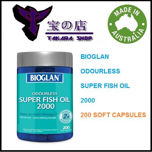 PROMO - Bioglan Odourless Super Fish Oil 2000 mg 200 Soft Capsules | Shopee Indonesia