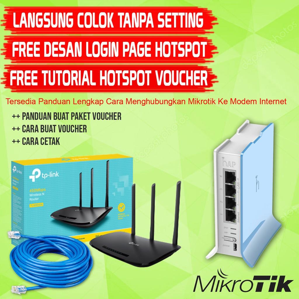 Paket Hotspot Warkop / Cafe Wifi Siap Pakai Settingan Lengkap