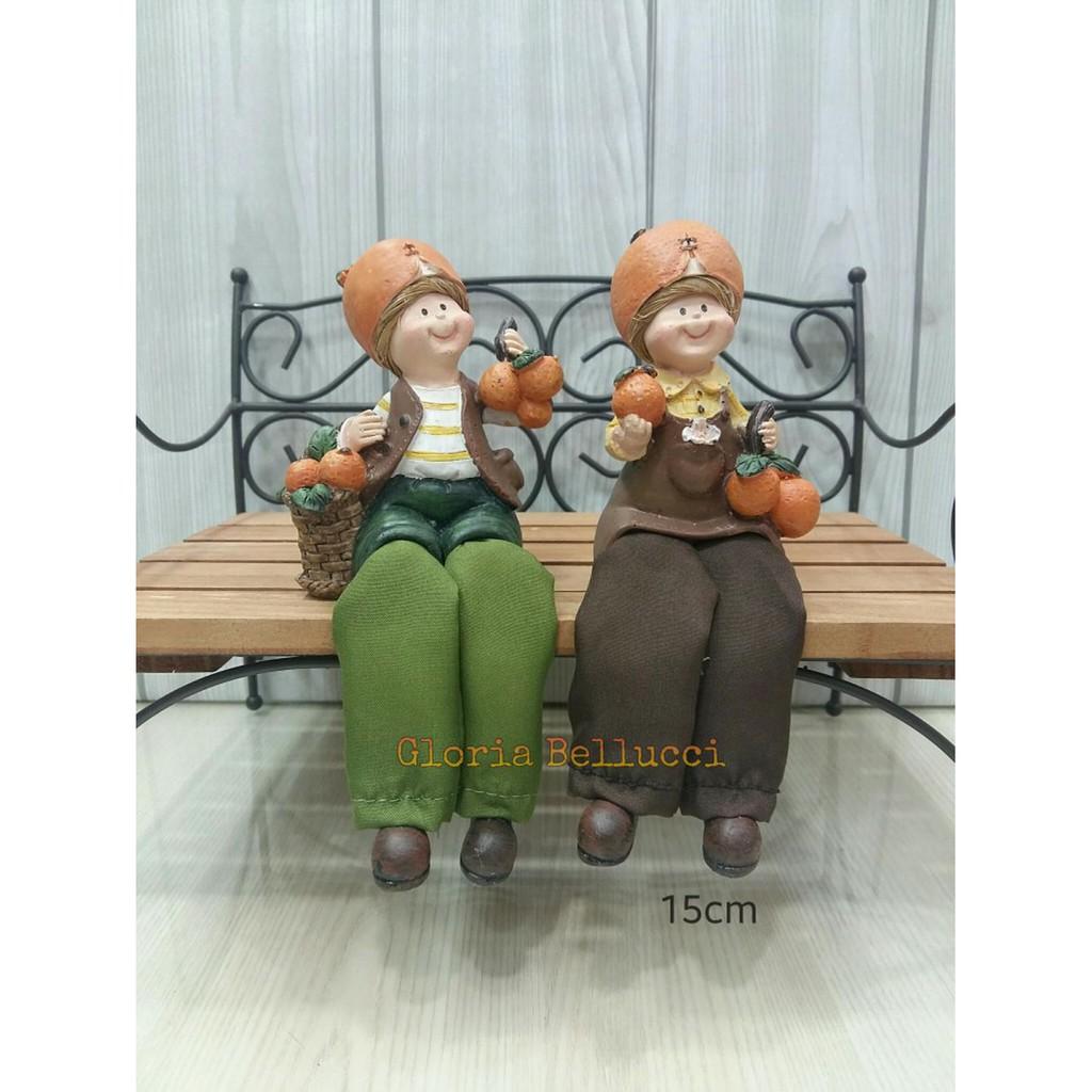 Unik Home Gras Artificial Dekorasi Pajangan Shaby Chic Limited Patung Kakek Nenek Jahit Sofa Oldman Shopee Indonesia