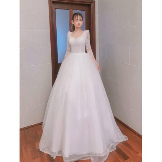 Ready White Wedding Dress Gaun Pengantin Dengan Harga Murah Kualitas Bagus Shopee Indonesia