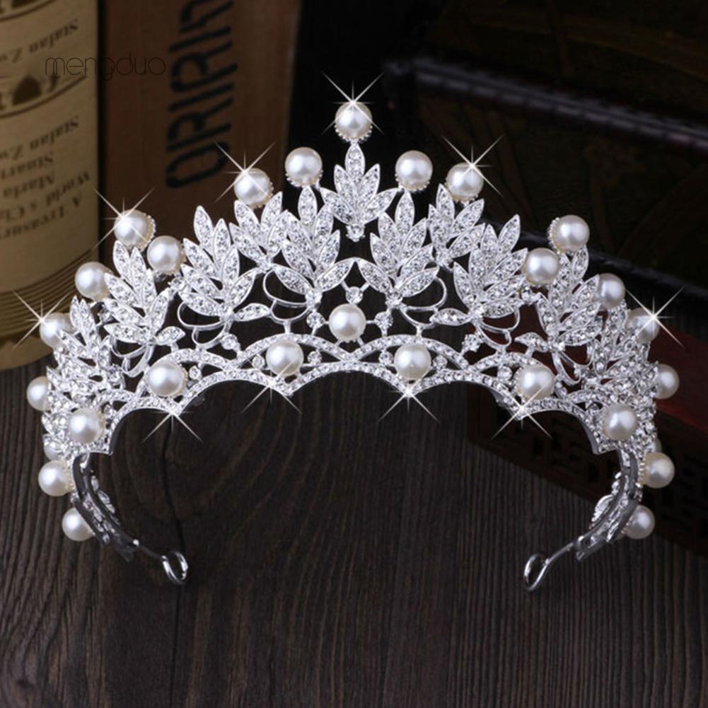 Mahkota pengantin wanita tiara wedding crown aksesoris rambut hiasan sanggul pengantin wanita | Shopee Indonesia