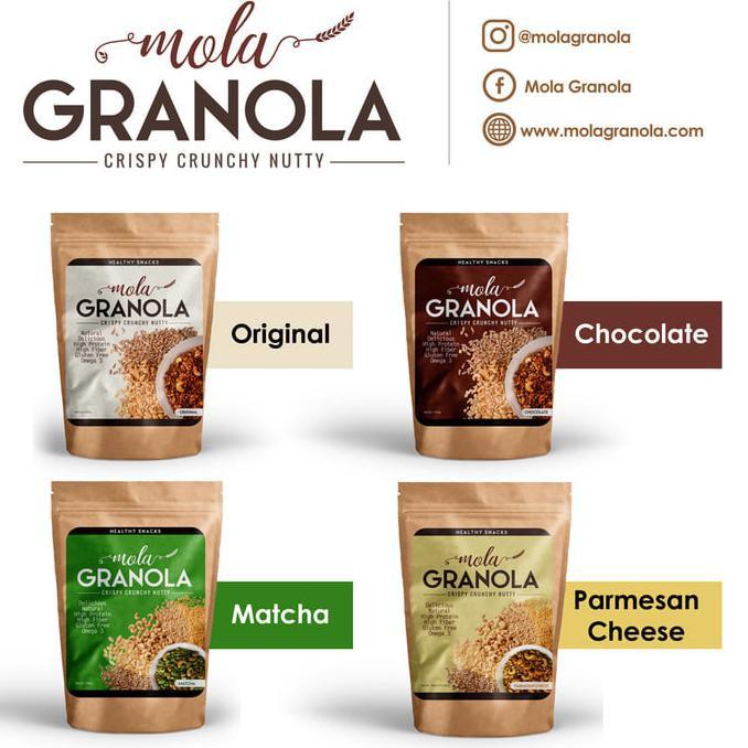 Paket 5pcs <FreeOngkir*> (4 varian rasa : bebas pilih) Granola Mola | Shopee Indonesia