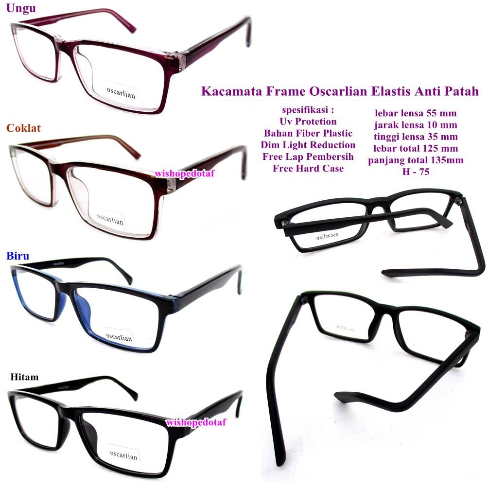kacamata anti patah   kacamata original   kacamata frame elastis oscarlian  fullset  3bada78785