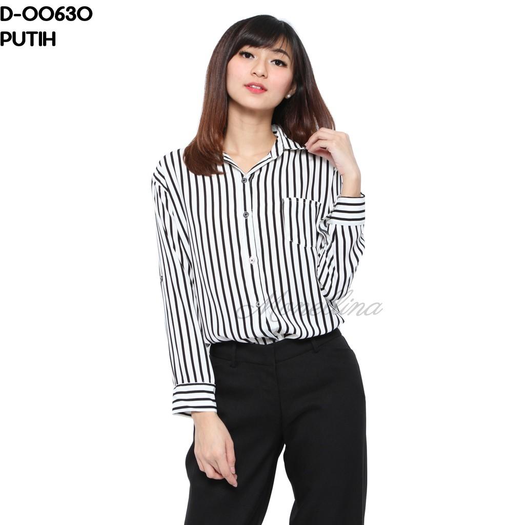 HaymeeStore Kemeja Flanel Wanita Lengan Panjang Exclusive Baju Kemeja  Flannel Cewek Kerja Kantoran  350d63bfa4