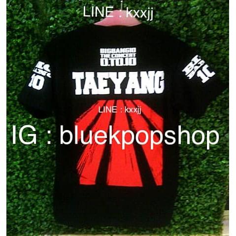 Kaos Lengan Pendek Kpop Big Bang 10th Anniversary Taeyang Top Daesung Shopee Indonesia