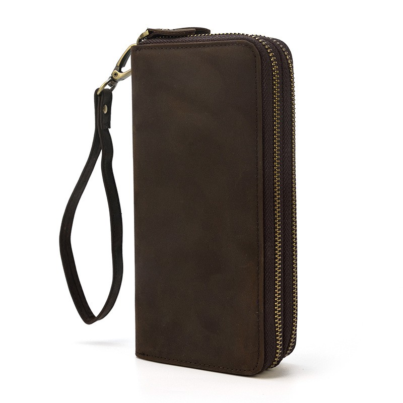 Crazy Hasp Men Women Vintage Style Male Mini Wallets Leather Small Purse
